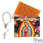 50 Cartões com Mini Terço de Nossa Senhora de Guadalupe | SJO Artigos Religiosos