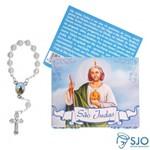 50 Cartões com Mini Terço de São Judas Tadeu | SJO Artigos Religiosos