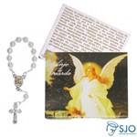 50 Cartões com Mini Terço do Anjo da Guarda | SJO Artigos Religiosos