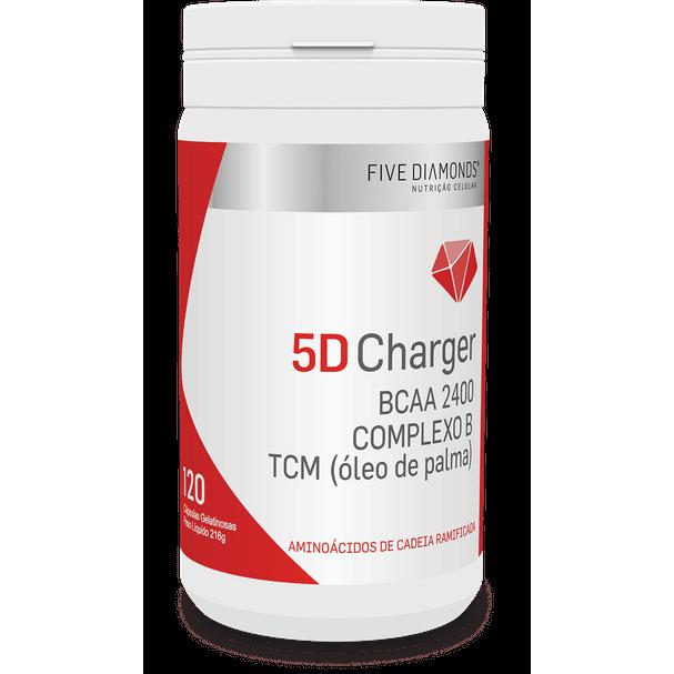 5D Charger BCAA 2400 + TCM + COMPLEXO B – 120 Cápsulas Gel