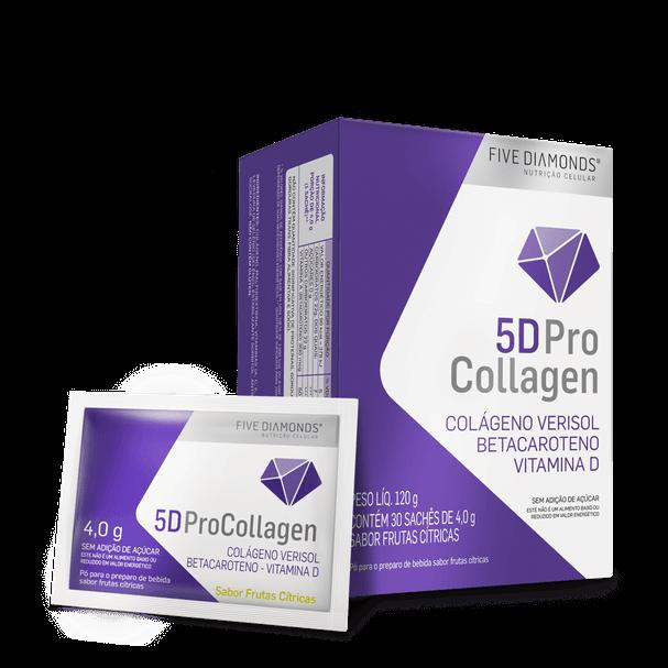 5D ProCollagen - Colágeno Hidrolizado Bioativo Verisol ®- 30 Sachês