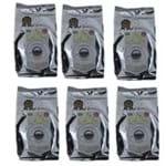 6 Cafés Gourmet Moído Aroma de Chocolate 100% Arábica 250g