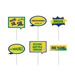 8 Plaquinhas Brasil Verde,amarelo,azul