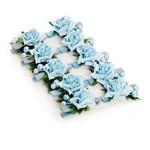 8 Prendedores Floral Azul Decoração Festas