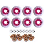 8 Rodas Luz Led Patins Inline Roller 64mm + 16 Rolamentos