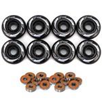 8 Rodas Patins Roller Inline Hondar 76mm + 16 Rolamentos