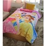 Coberdrom Juvenil Digital Hd Disney Princesas Reino Encantado 150X200 Rosa-Jolitex