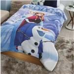 Coberdrom Juvenil Digital Hd com Sherpa Disney Frozen Aventura 1150X200 Azul-Jolitex