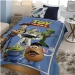 Coberdrom Juvenil Digital Hd com Sherpa Disney Toy Story 150X200 Azul-Jolitex