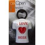 Abridor de Garrafa com Imã I Love Beer