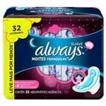 Absorvente Always Pink Noturno Abas 32 Unidades