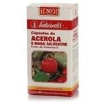 Acerola e Rosa Silvestre 80 Capsulas Naturalis