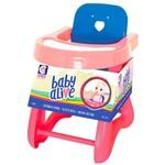 Acessórios para Bonecas - Baby Alive - Cadeirão Pequeno - Rosa e Pink - Cotiplás