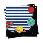 Acessórios para Festa - Pacote de Guardanapos - Astronauta - 20 Un - Cromus