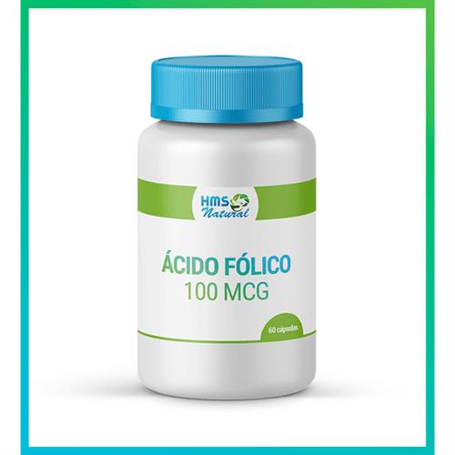 Ácido Fólico 100mcg Cápsulas 60cápsulas