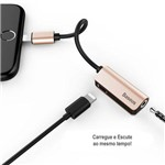 Adaptador Baseus L32 Lightning para P2 (3.5mm) + Entrada Lightning