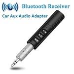 Adaptador de Audio Receptor de Audio Aux Carro Bluetooth Mini Sem Fio Hands-free Kit de Musica do Carro para Casa Sistema Estereo do Carro com Fio Fones de Ouvido