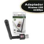 Adaptador Wireless USB 300 Mbps 7dBi