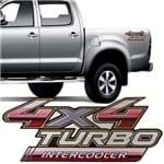 Adesivo 4x4 Turbo Intercooler Hilux 2009 2010 2011