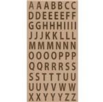 Adesivo Alfabeto Dourado Simples Maiúsculo Ad1810 - Toke e Crie