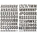 Adesivo Alfabeto EVA Toke e Crie By Flávia Terzi Marrom