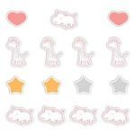 Adesivo Antiderrapante Banheiro Girafa e Hipopótamo Rosa