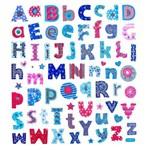 Adesivo Artesanal I Alfabeto Azul e Vermelho Ad1641 - Toke e Crie