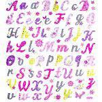 Adesivo Artesanal I Alfabeto com Flores Ad1643 - Toke e Crie