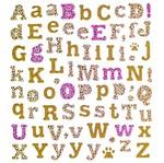 Adesivo Artesanal I Alfabeto Estampa e Glitter Ad1642 - Toke e Crie