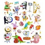 Adesivo Artesanal I Animais e Música Ad1639 - Toke e Crie