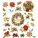 Adesivo Artesanal I Coleção Natal Toke e Crie Guirlanda e Flores