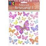 Adesivo Artesanal Toke e Crie 143x171mm Ad1637 - Borboletas e Flores 17158