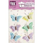 Adesivo Borboletas de Papel Marshmallow Toke e Crie - 16969 - AV010