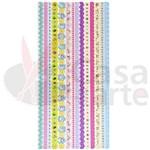 Adesivo Borda com Glitter Toke e Crie Melhores Amigas - 10664 - AD1118