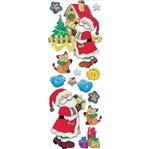 Adesivo com Glitter Litocart LAGGN-03 15x41 Papai Noel