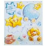 Adesivo 3d Bebê Menino e Urso Ad1670 - Toke e Crie