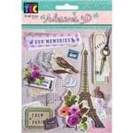 Adesivo 3D Toke e Crie 14 X 12cm - Memórias de Paris
