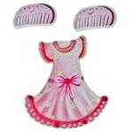 Adesivo 3D Vestido Rosa AD1165 - Toke e Crie