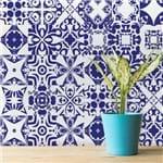 Adesivo de Azulejo Azul Del Rey 15x15 Cm com 18un