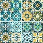 Adesivo de Azulejo Hidráulico Rococó 20x20cm com 24un