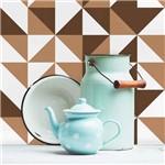 Adesivo de Azulejo Marrom Brooklyn 10x10 Cm com 50un