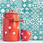 Adesivo de Azulejo Turquesa Caribe 10x10 Cm com 50un