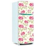 Adesivo de Geladeira Porta - Floral 98