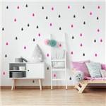Adesivo de Gota Cinza Chumbo e Pink 150 Unidades Gotinhas 5cm X 3cm