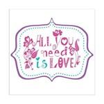 Adesivo de Parede All You Need Is Love Grudado Adesivos