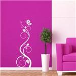 Adesivo de Parede - Arabesco Floral e Borboleta - 003fl