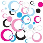 Adesivo de Parede Arcos Coloridos Rosa Lilás 48un