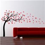 Adesivo de Parede - Arvore e Flores ao Vento - N5012