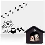 Adesivo de Parede Cachorro com Ossos e Vasilha de Comida
