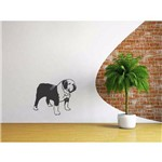 Adesivo de Parede Cães Cachorro Bulldog Inglês